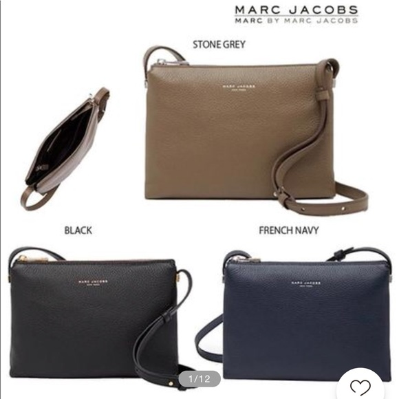 NWT Marc Jacobs stone grey Crossbody Bag 49a10eb13f852